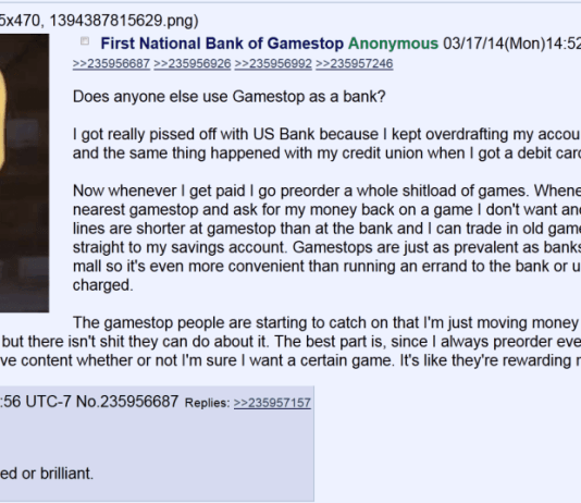 First National Bank of Gamestop