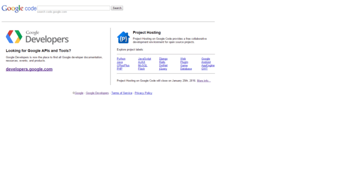 Farewell Google Code