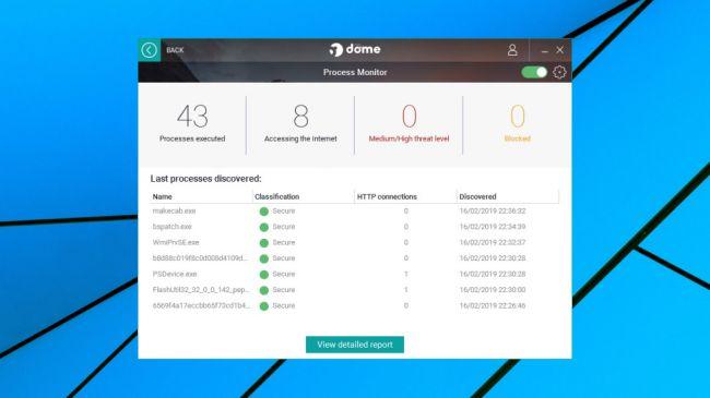 Panda Free Antivirus 2019 Process Manager