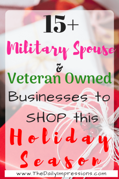 15+ Military Spouse and Veteran Owned Businesses to Shop this Holiday Season