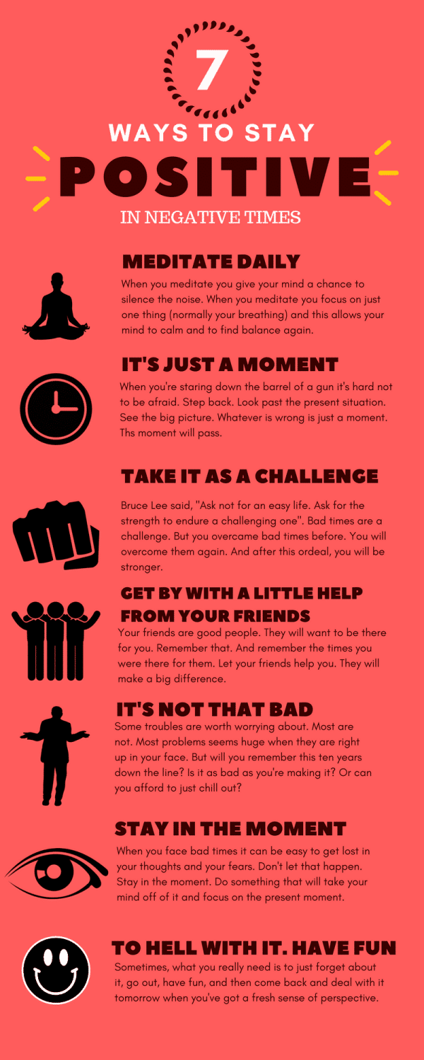 how to stay positive in negative times