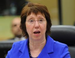 EU MP sends letter to High Representative Catherine Ashton asking if she would agree to freezing financial aid to Egypt. (AFP / John Thys)