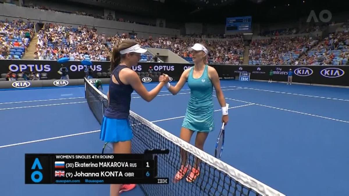 Australian Open 2017: Johanna Konta knock out Ekaterina Makarova