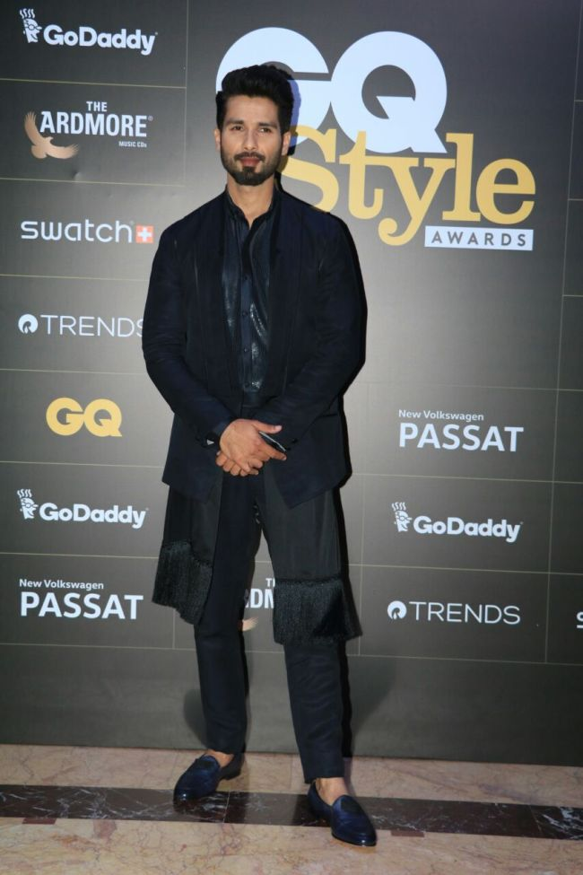 Shahid Kapoor GQ Style awards 2018