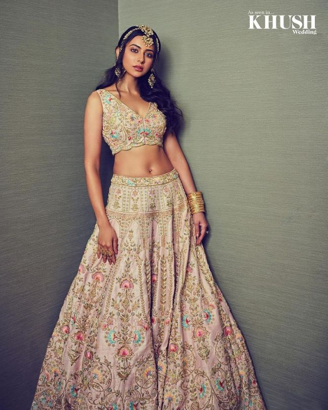 Rakul Preet Bridal Lehnga Choli Khush Wedding