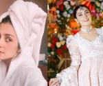 Ayeza khan bath robe
