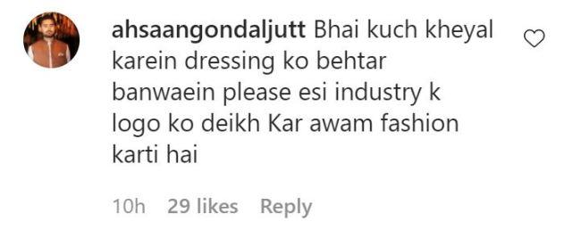 Fans React on Saboor Dressing