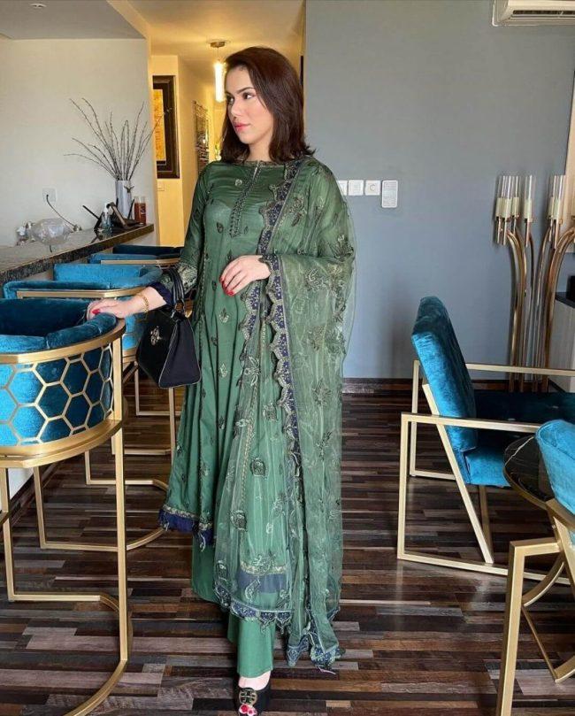 Ghana Ali Green Dress Revealing Bra