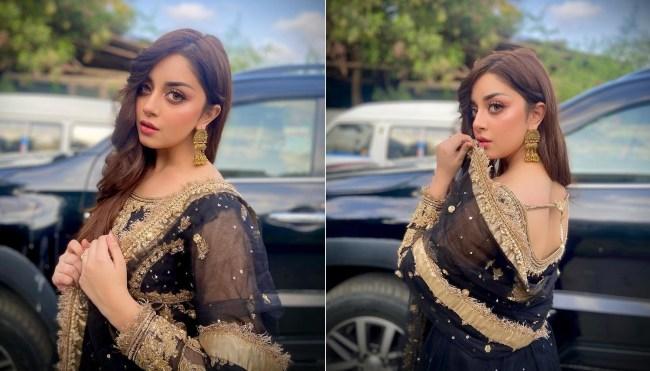Alizeh Shah Alizooo Black Dress