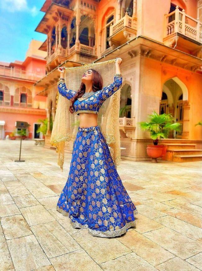 Neha Malik Blue Dress