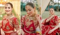 Hania Aamir Red Bridal Dress