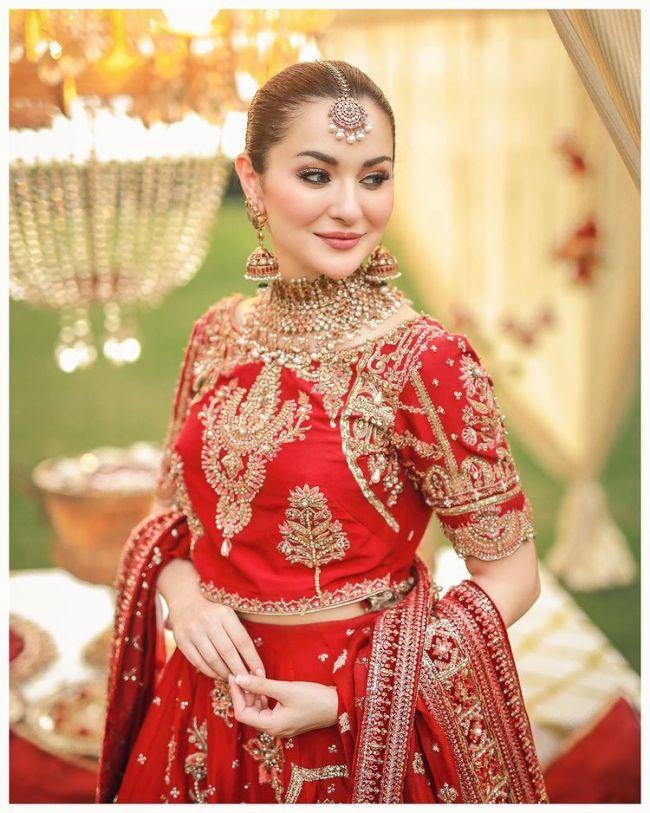 Hania Amir Bridal Dress-Red