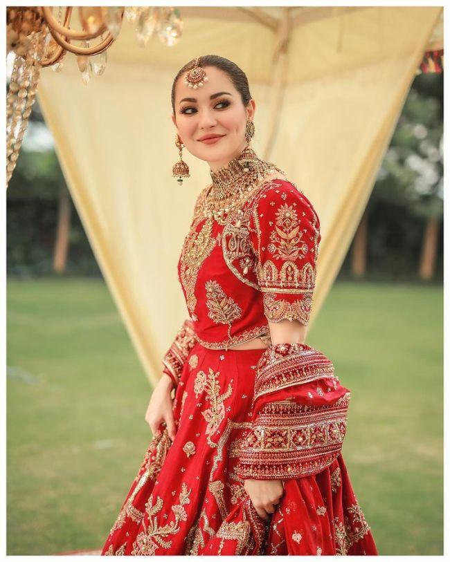 Hania Amir Bridal Dress Red