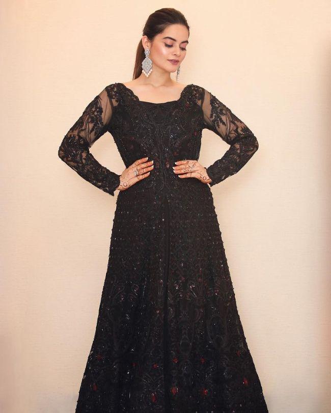 Minal Khan Black Dress