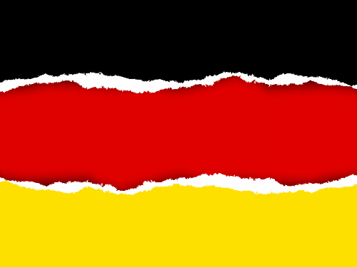 torn german flag