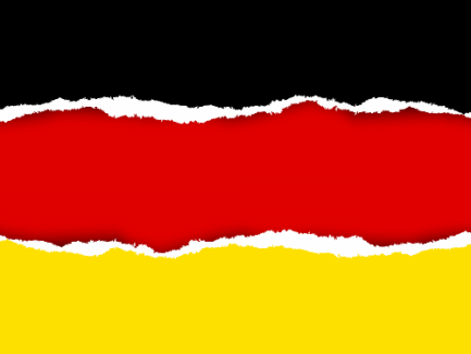torn german flag