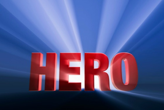 hero red and blue