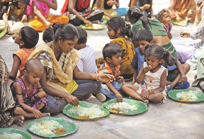 What do people in poverty eat