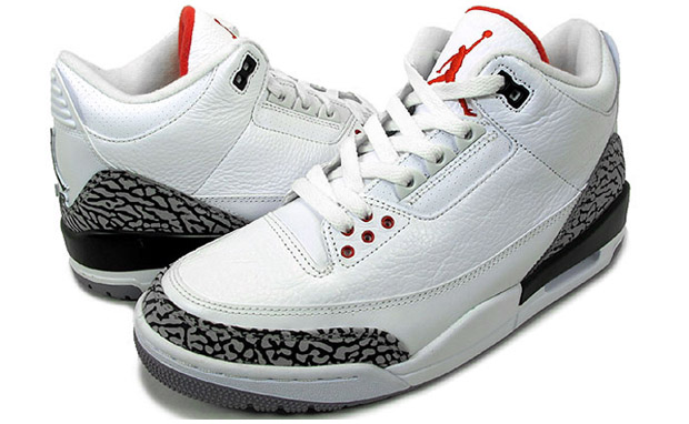 521a98b63019 Air Jordan III Retro (White Cement Fire Red)