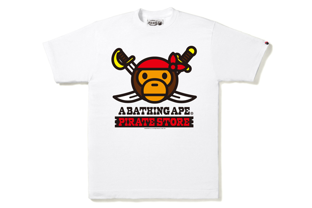 c581abb75704 BAPE London Pirate Store T-Shirts