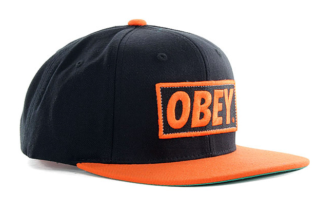 1a0d83ee419 get obey mens repetition snapback hat black one size 084e9 6908a  sweden obey  original snapback black orange a970f 3de65