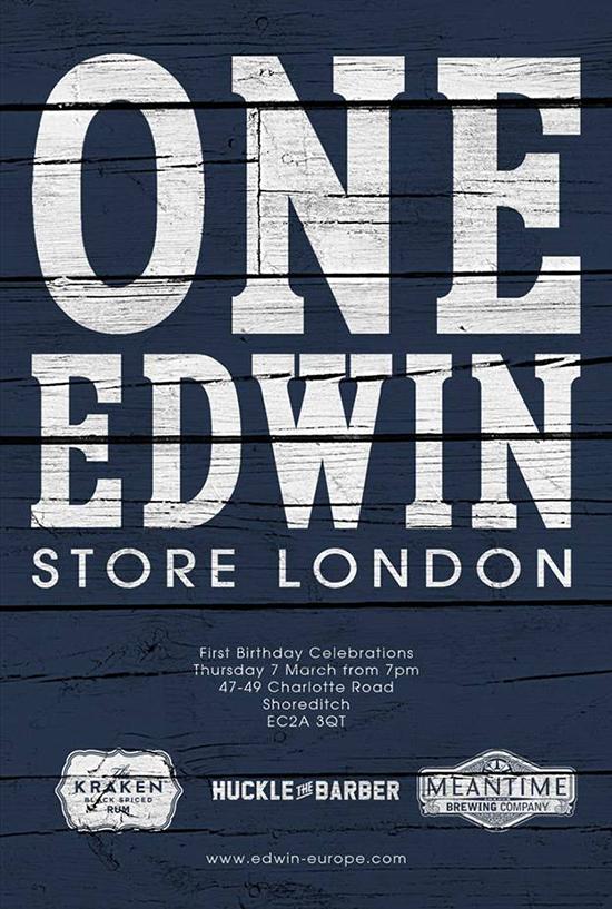 Edwin-Store-London-1st-Birthday-Poster-1