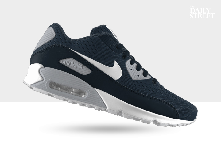 competitive price 2f23b 935d3 NIKEiD Air Max 90 Engineered Mesh (Armory Navy Wolf Grey)