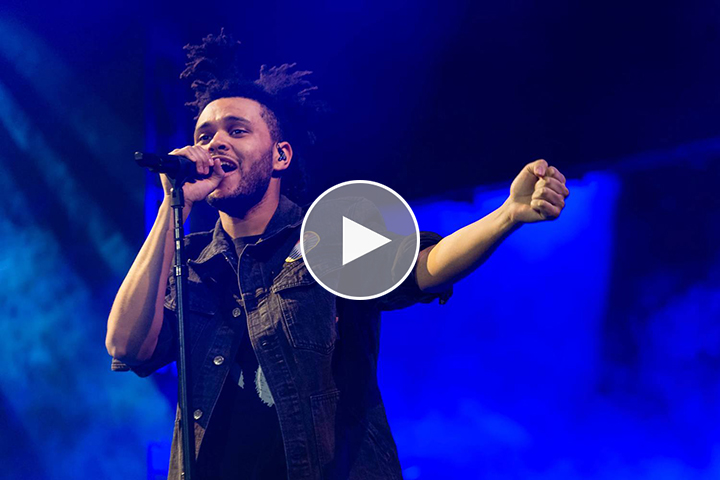 615b7a1508ce Video  One night with The Weeknd at The O2 Arena