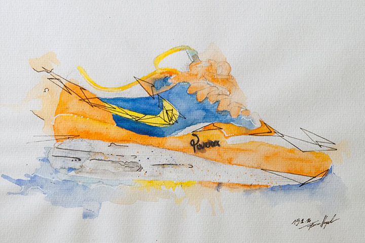 Nike Air Max 1 sneaker watercolour painting by Achildcolor 008