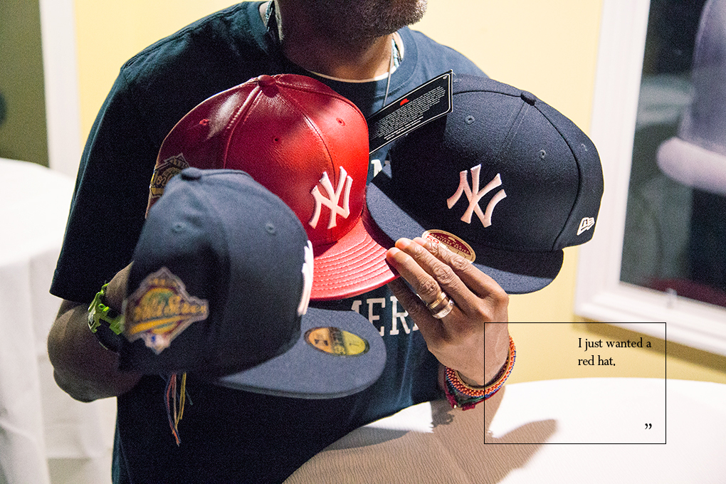 Spike Lee and Christopher Koch talk about the red Yankees cap 17ebc7f28d2