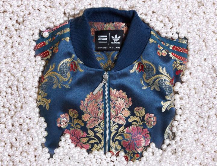 Pharrell Adidas Originals Jacquard Blue Superstar Jacket