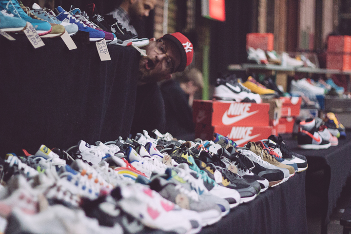 Laces out row of shoes