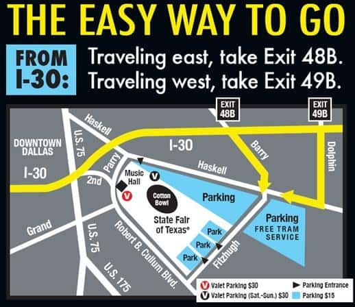 The Easy Way to get to the State Fair of Texas Map 2013