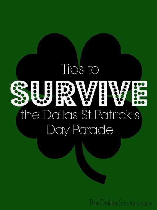 Tips to Survive the Dallas St. Patrick's Day Parade. #dallas #travel #stpattysday #stpatricksday