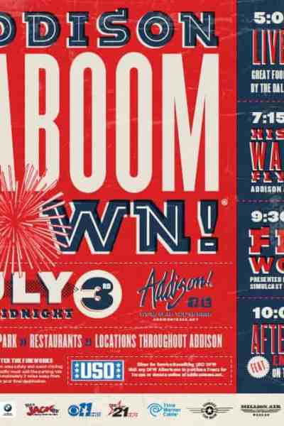 Attend Kaboom Town in Addison on July 3rd!