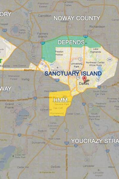 "The ""Map"" of Dallas – Do You Venture Out of Sanctuary Island?"