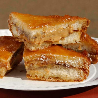 Fried Food Friday: Deep Fried Peanut Butter, Jelly and Banana Sandwich Recipe