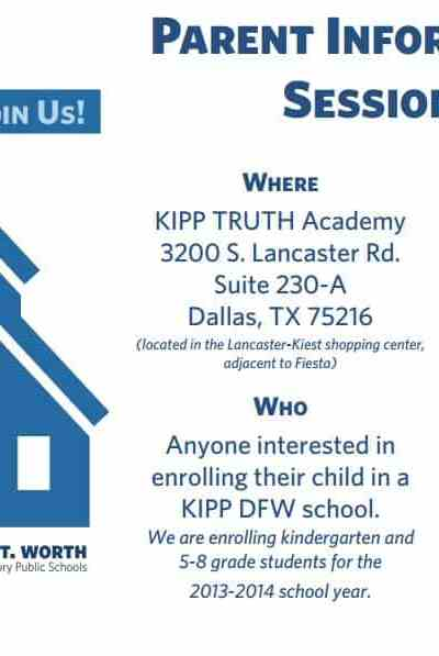 KIPP DFW Hosts Parent Info Session for Prospective Families