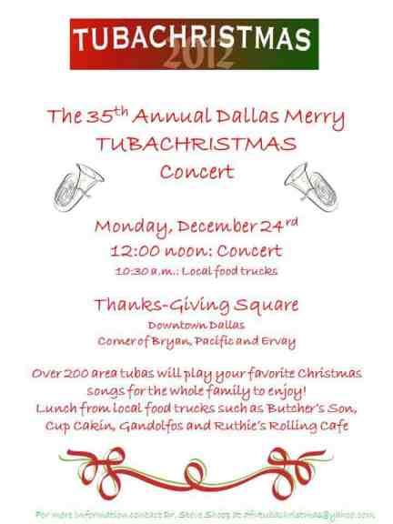 tuba christmas, thanksgiving square, dallas