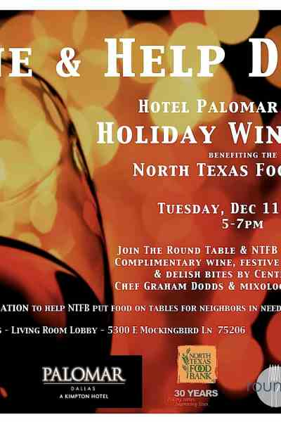 Wine and Help Dine at Hotel Palomar's Holiday Wine Hour