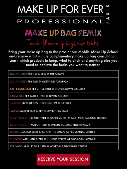 MUFE Remix Tour Invite