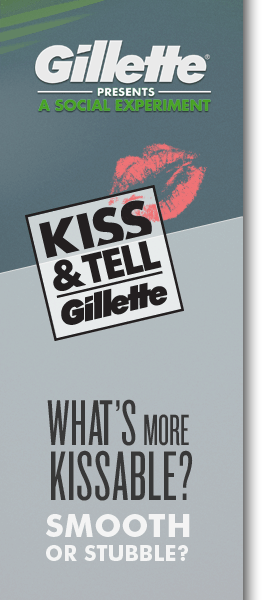 "Gillette Asks Dallas Couples to ""Kiss & Tell"""