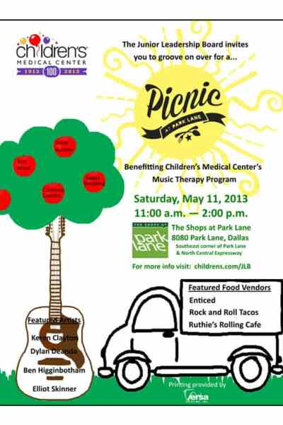 Picnic with Park Lane for Children's Medical Center