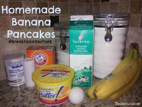 Homemade Banana Pancakes