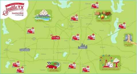 Seattle's Best Coffee Dallas Map