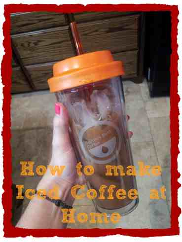 how to make blended iced coffee at home