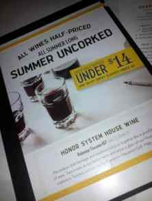 Macaroni Grill Offers Half Priced Wine all Summer Long
