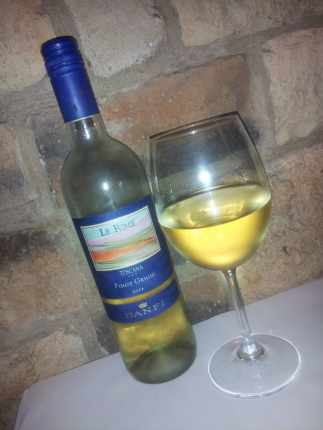 Pinot Grigio for less than $15 a bottle at Macaroni Grill.