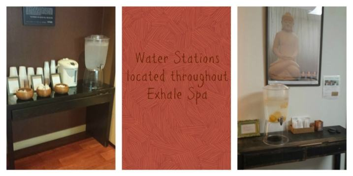 Exhale Spa watering stations