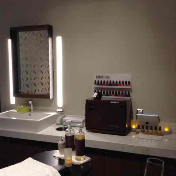 Exhale Spa located at the AmEx Centurion Lounge in DFW Airport